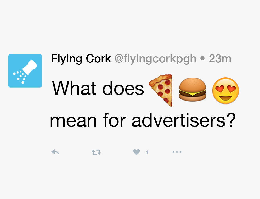 Flying Cork tweet with emojis