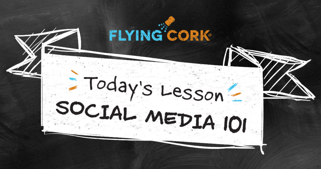 Flying Cork Digital Marketing Social Media 101 lesson banner