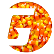 Gamma Sports Flying Cork client logo Halloween themed with candy corn