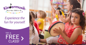 Flying Cork client Kindermusik advertisement for a free class